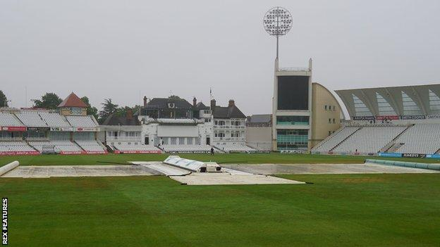 sports Rain persisted throughout day two at Trent Bridge