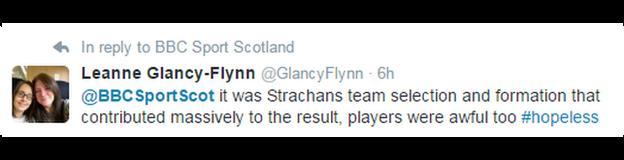 Tweet from Leanne Glancy-Flynn