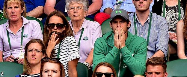 Andy Murray and his wife Kim