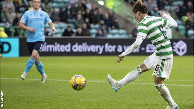 Kyogo Furuhashi converts for his hat-trick