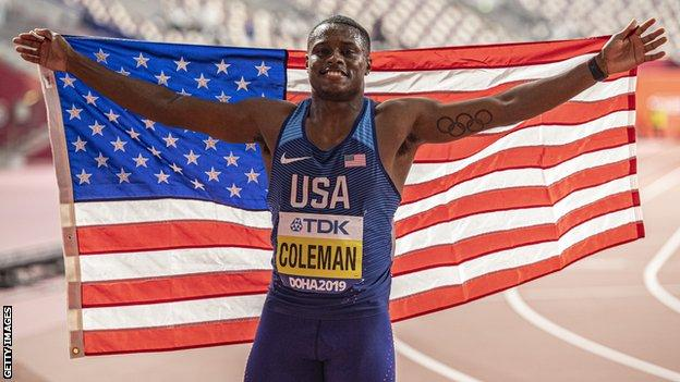 Sprint star Coleman to miss Olympics after being banned for whereabouts failure