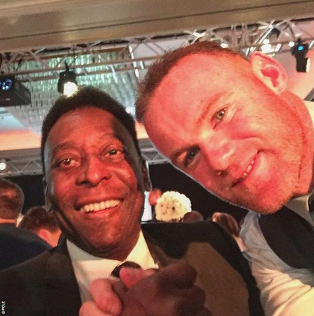 Pele and Wayne Rooney