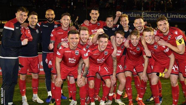 Ross County look like they are returning to the top flight at the first time of asking