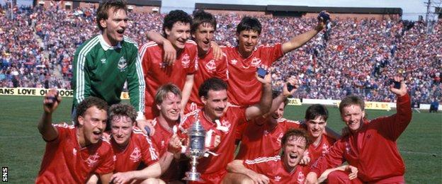Aberdeen with the 1986 Scottish Cup