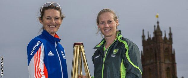 Charlotte Edwards and Meg Lanning