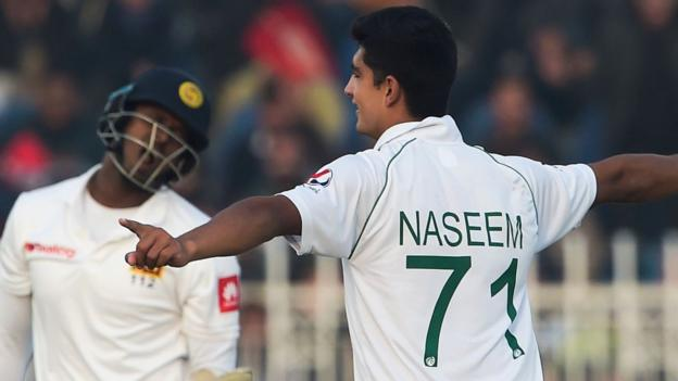 Pakistan v Sri Lanka: Naseem Shah impresses on opening day thumbnail