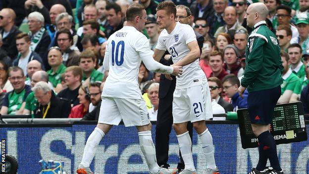 Wayne Rooney (left) and Jamie Vardy