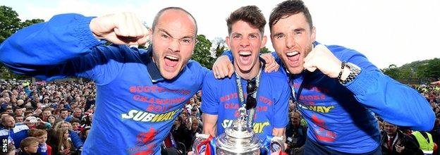 Greg Tansey, right, won the Scottish Cup with Inverness Caledonian Thistle in 2015