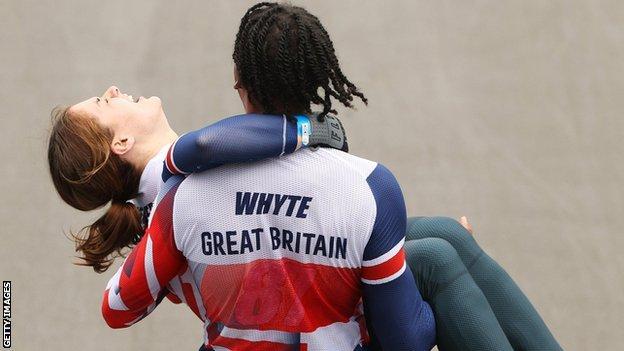 Les coureurs de BMX de Grande-Bretagne