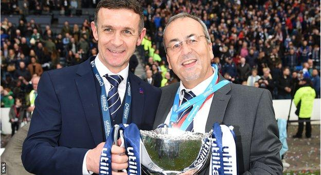 Manager Jim McIntyre and chairman Roy MacGregor