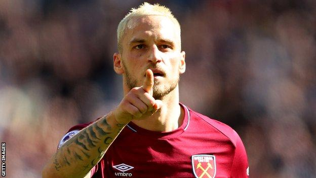 Arnautovic has eight goals in all competitions for West Ham this season