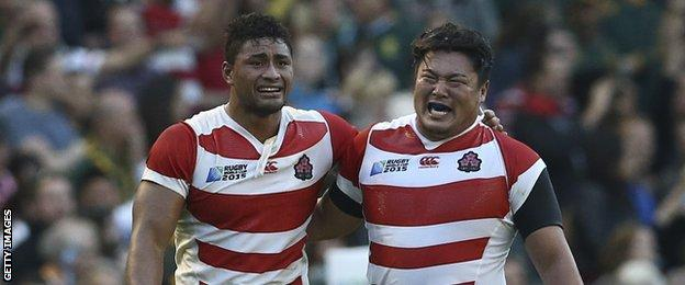 Japan pulled off a great upset by beating South Africa
