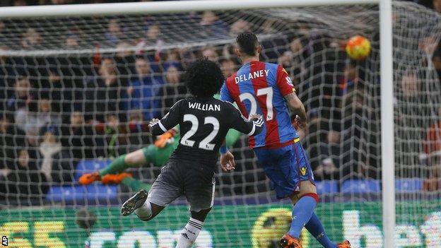 Willian scores for Chelsea