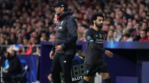 Liverpool manager Jurgen Klopp (left) and Mohamed Salah