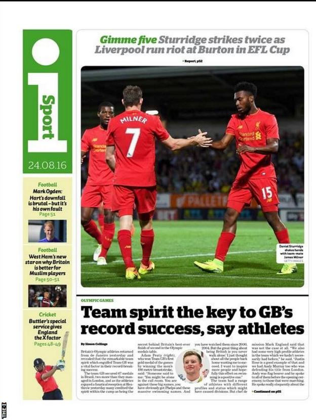 The I back page