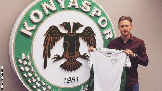 Barry Douglas with his Konyaspor strip