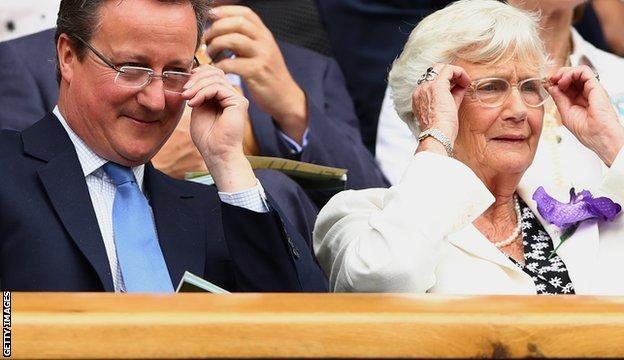 David Cameron (left)