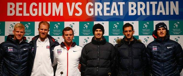 Great Britain's Davis Cup team