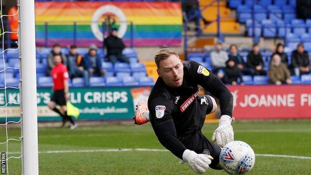 Wycombe goalkeeper Ryan Allsop