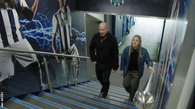 Alan Shearer and Dawn Astle