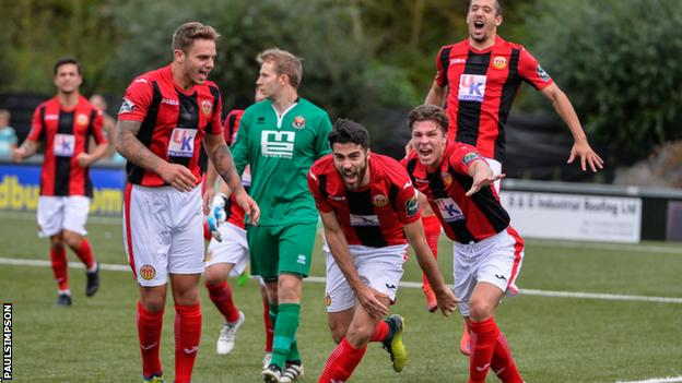 Heybridge Swifts celebrate scoring