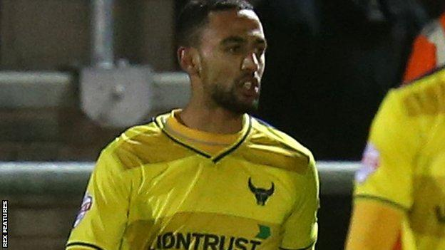 Oxford United midfielder Kemar Roofe