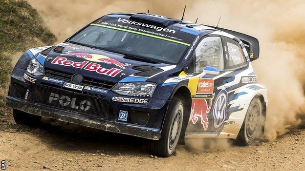 Sebastien Ogier on the way to winning the world rally championship in Australia