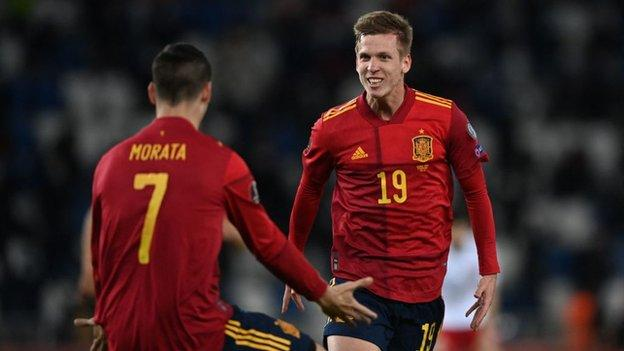 Dani Olmo's stoppage-time winner gave Spain their first victory in the World Cup qualifying campaign