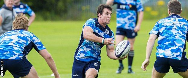John Hardie training with Scotland