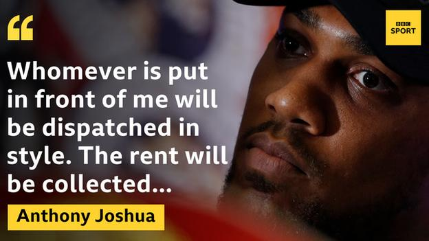 Joshua is seeking to extend his record to 23 fights unbeaten