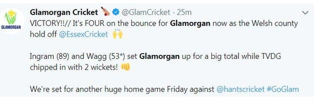 Glamorgan CCC on Twitter