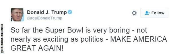 Donald Trump tweet snip