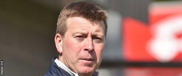 Pat McGibbon succeeded long-serving boss Ronnie McFall as manager of Portadown
