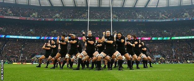 New Zealand perform the haka