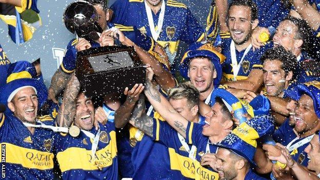 Boca Juniors lift the Diego Armando Maradona Cup