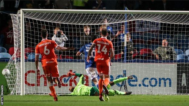 Macclesfield beat Blackpool 5-3 on penalties