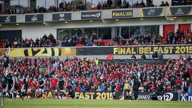 The 2015 Pro12 final was played at the Kingspan Stadium in Belfast