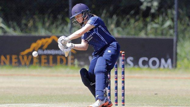 Scotland's Lorna Jack batting - image supplied by the ICC