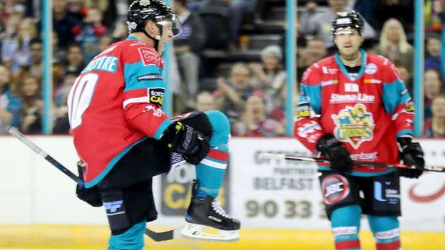 Delight for Sebastien Sylvestre after scoring for the Giants in the Challenge Cup match