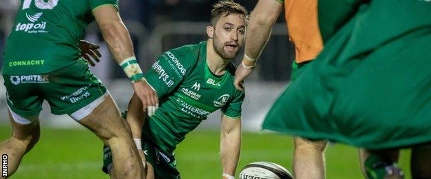 Caolin Blade's score gave Connacht an early lead in Galway