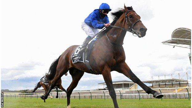 William Buick and Ghaiyyath win the Coronation Cup