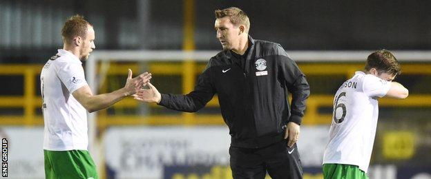 Alan Stubbs (right) is keen on finding cover for captain David Gray at right-back