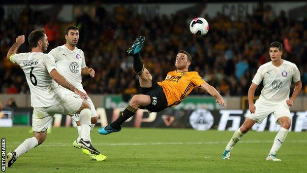 Europa League (2019-2020) Report: Stunning Jota goal helps Wolves cruise into Europa League play-off round