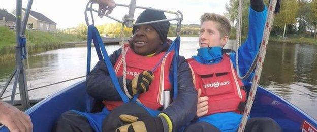 Goz and Ross prepare for their challenge