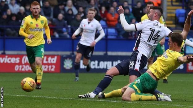 Gary Madine scores for Bolton