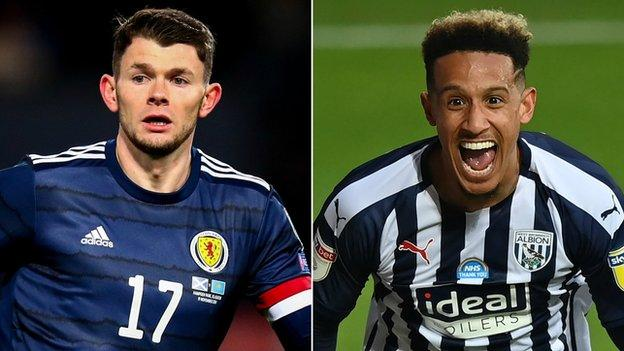 Northern Ireland Oliver Burke and Callum Robinson