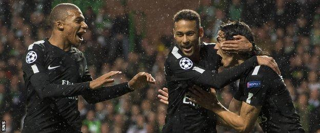 Mbappe, Neymar and Cavani