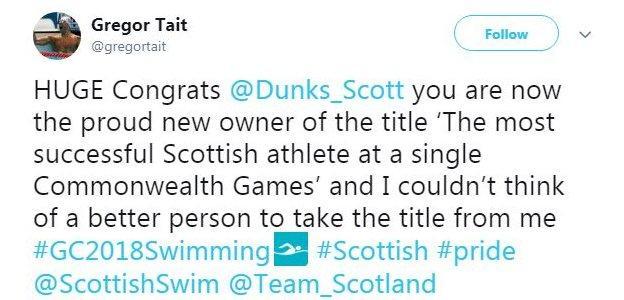 Gregor Tait tweet