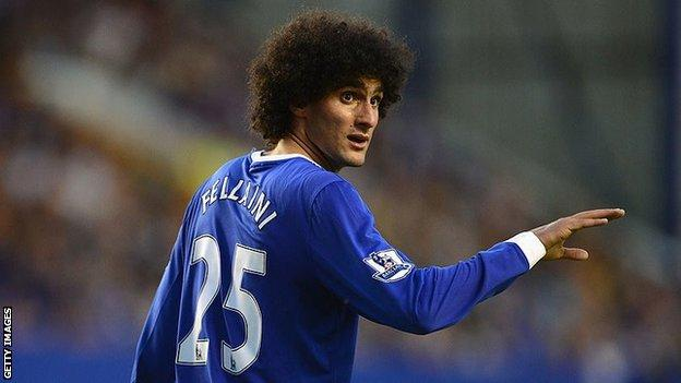 Former Everton midfielder Marouane Fellaini