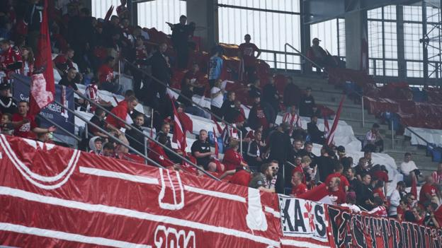 Danish Cup final between Aalborg and SonderjyskE delayed by social distancing breaches thumbnail
